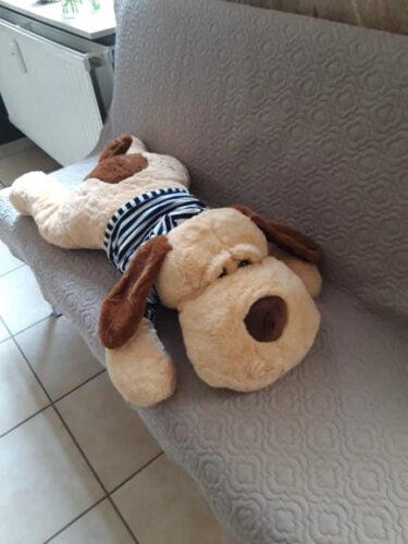 Poduszka pluszowa w kształcie psa w koszulce photo review