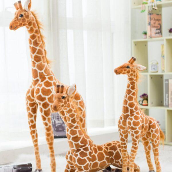 śmieszne pluszaki w kszałcie żyrafy