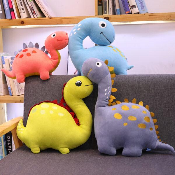 śmieszne pluszaki w kształcie dinozaurów