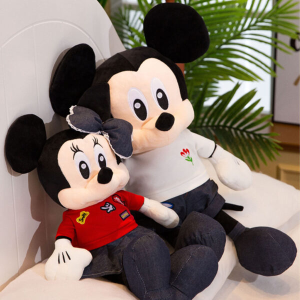 śmieszne pluszaki w kształcie myszki miki i miniee
