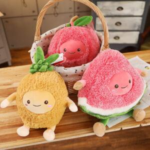 śmieszne pluszaki w kształcie owoców