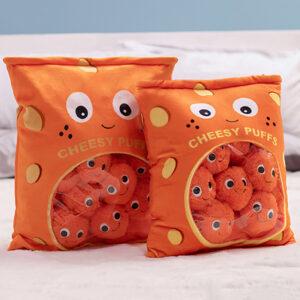 śmieszne pluszaki w kształcie serowych chrupek