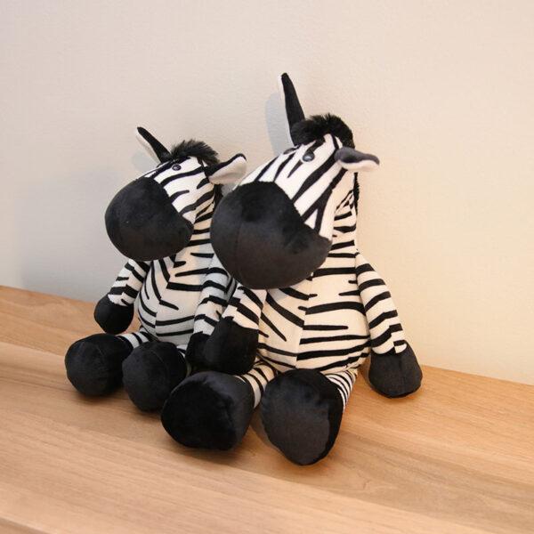 śmieszne pluszaki w kształcie zebry