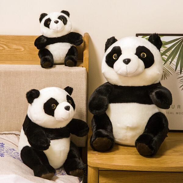 śmieszny pluszak w kształcie pandy