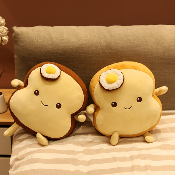 smieszne poduszki pluszowe w ksztalcie tosta z jajkiem sadzonym
