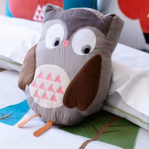 poduszka pluszowa w kształcie sowy