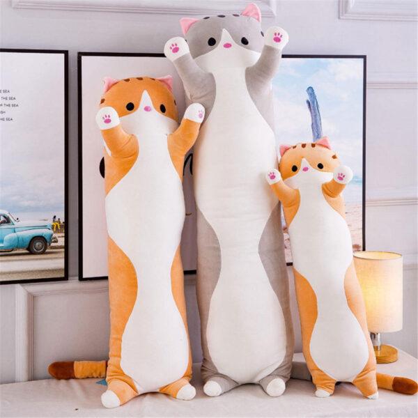 poduszki pluszowe w kształcie kotów