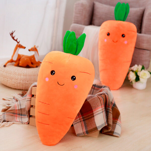 poduszki pluszowe w kształcie marchewek