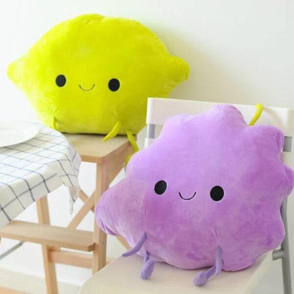 poduszki pluszowe w kształcie owoców