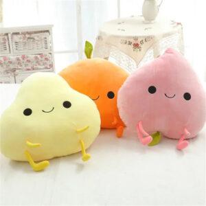 poduszki pluszowe w ksztalcie owocow