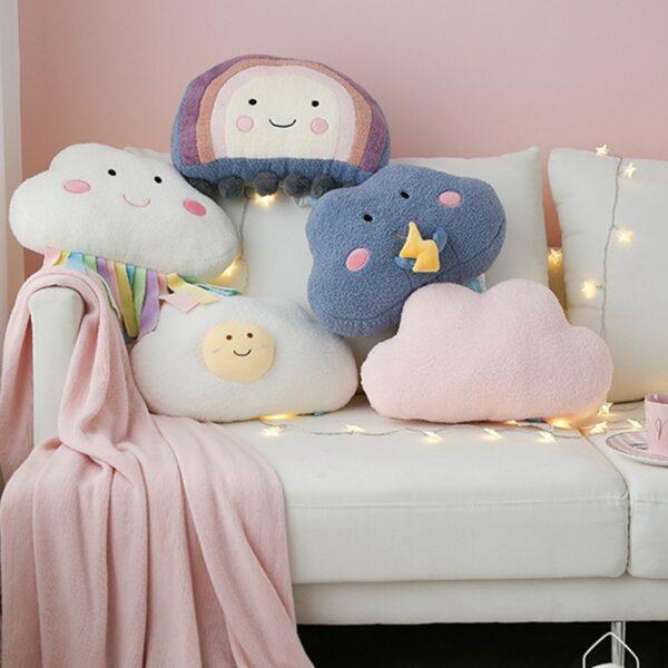 poduszki pluszowe z motywem pogody