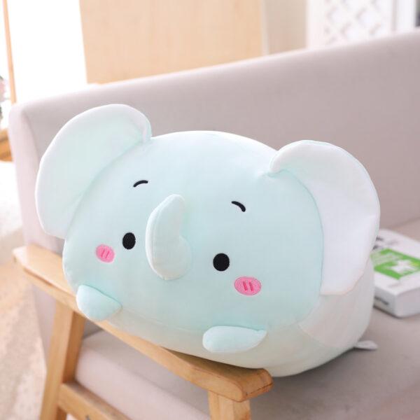 śmieszna poduszka pluszowa w kształcie słonia