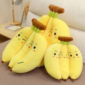 śmieszne pluszaki w kształcie bananów
