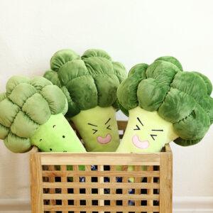 śmieszne pluszaki w kształcie brokuła