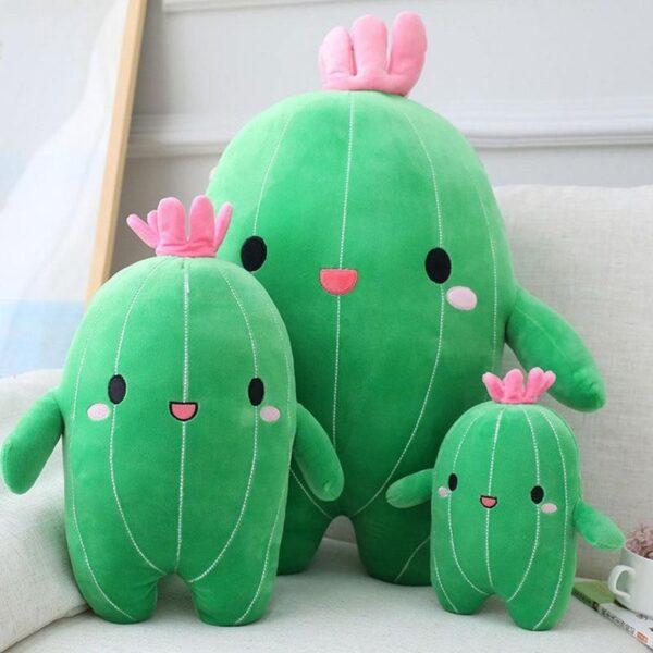 śmieszne pluszaki w kształcie kaktusa